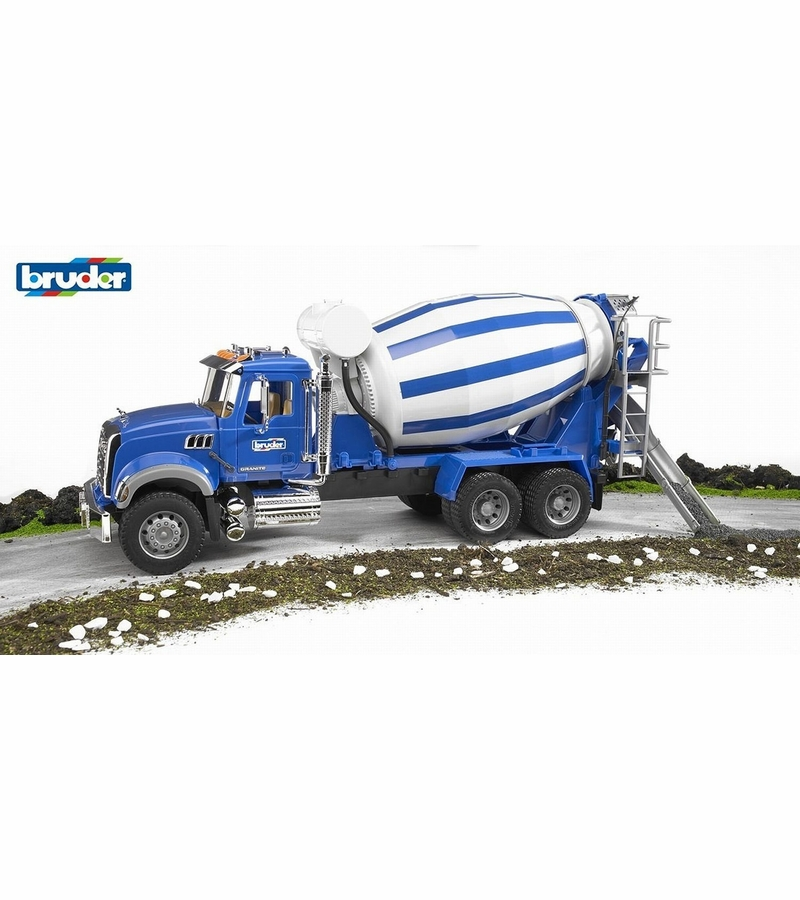 Mack Truck Cement Mixer : Bruder mack granite cement mixer