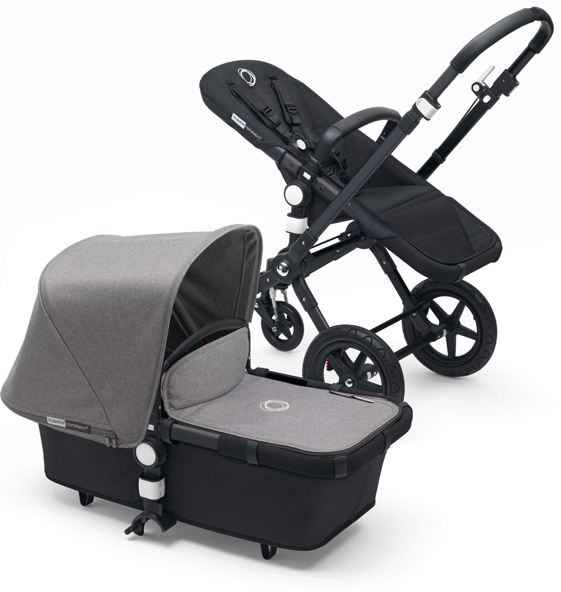 Bugaboo Cameleon 3 Stroller - All Black/Grey Melange