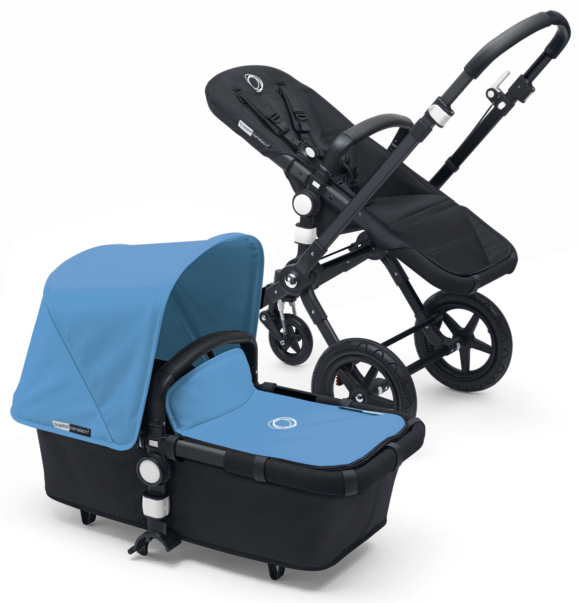 Bugaboo Cameleon 3 Stroller - All Black/Ice Blue
