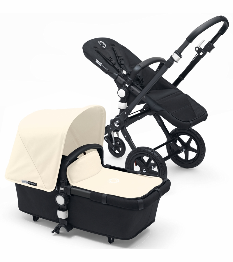 bugaboo cameleon 3 stroller all black off white. Black Bedroom Furniture Sets. Home Design Ideas