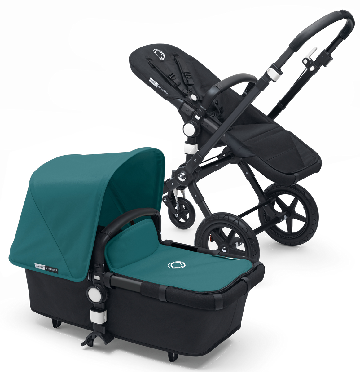 Bugaboo Cameleon 3 Stroller - All Black/Petrol Blue