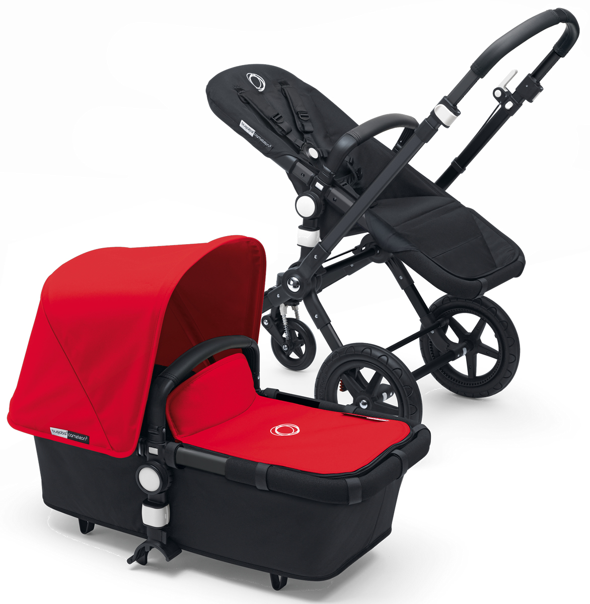 Bugaboo Cameleon 3 Stroller - All Black/Red