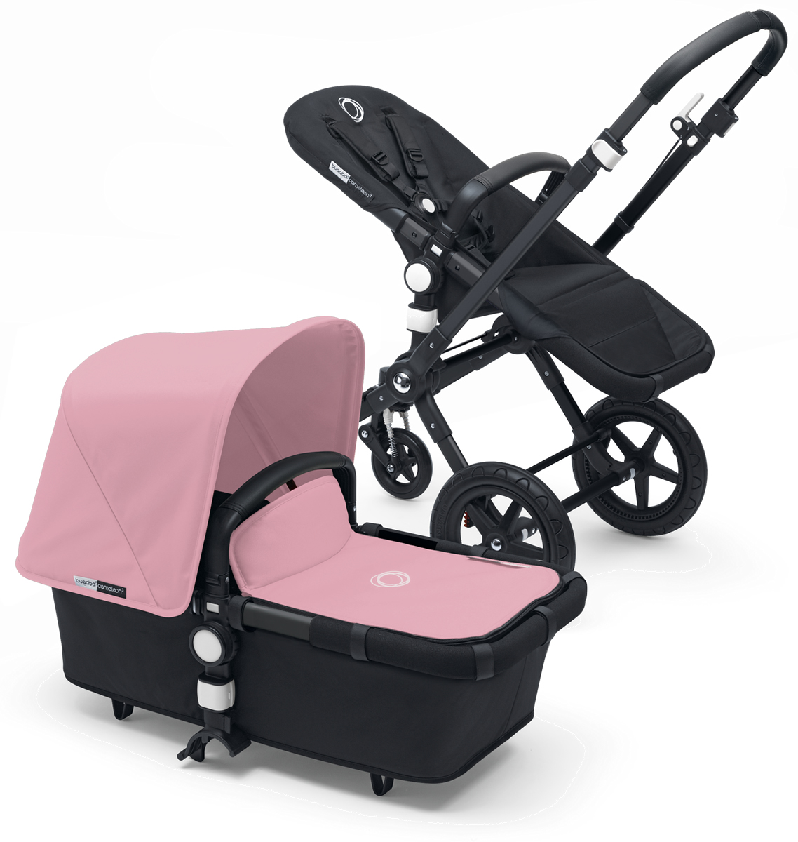 Bugaboo Cameleon 3 Stroller - All Black/Soft Pink