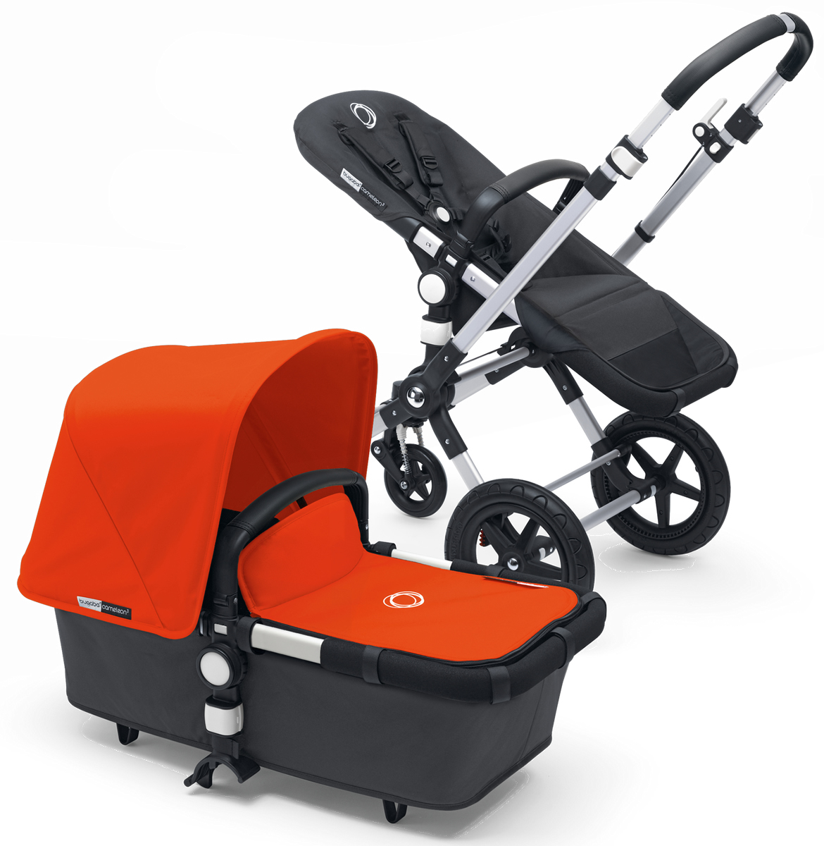 Bugaboo Cameleon 3 Stroller - Dark Grey/Orange