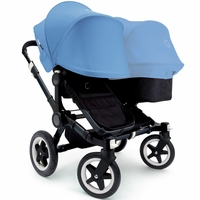 Bugaboo Donkey Duo Stroller - All Black/Ice Blue