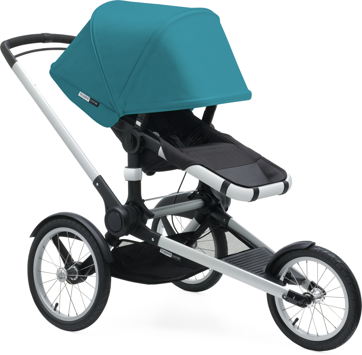 Bugaboo Runner Jogging Stroller with Faux Leather - Black...
