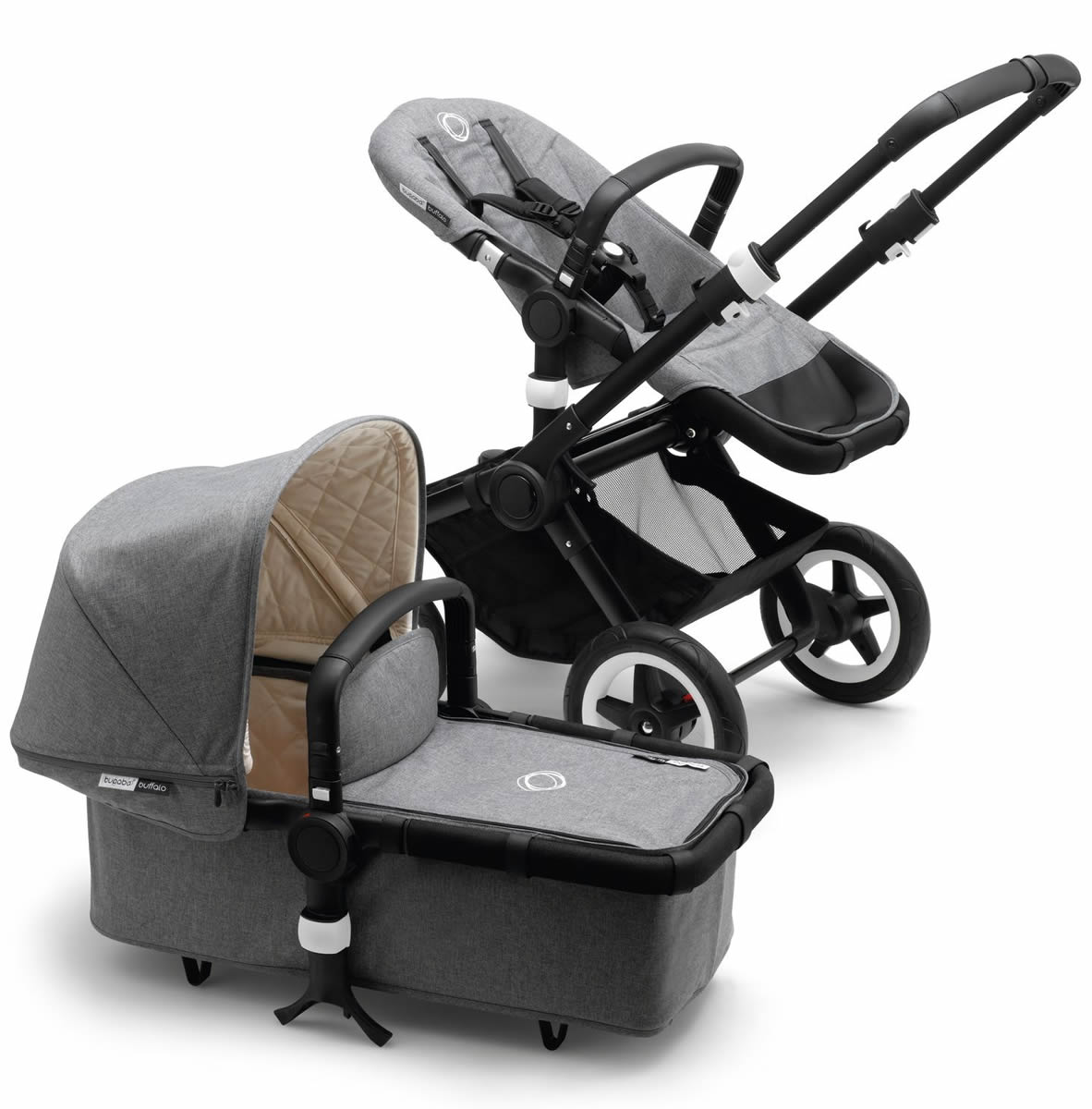 Bugaboo Buffalo Classic+ Collection Complete Stroller in Grey Melange