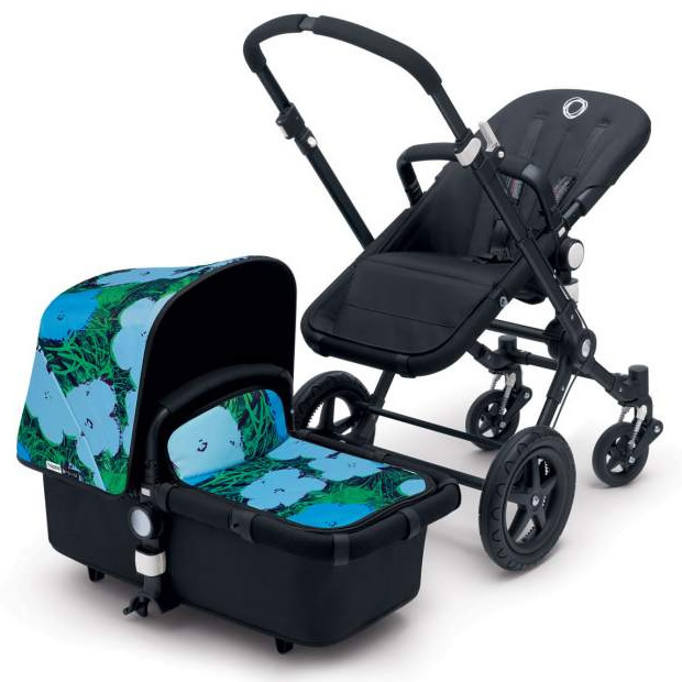 bugaboo cameleon 3 andy warhol special edition stroller blue flowers. Black Bedroom Furniture Sets. Home Design Ideas
