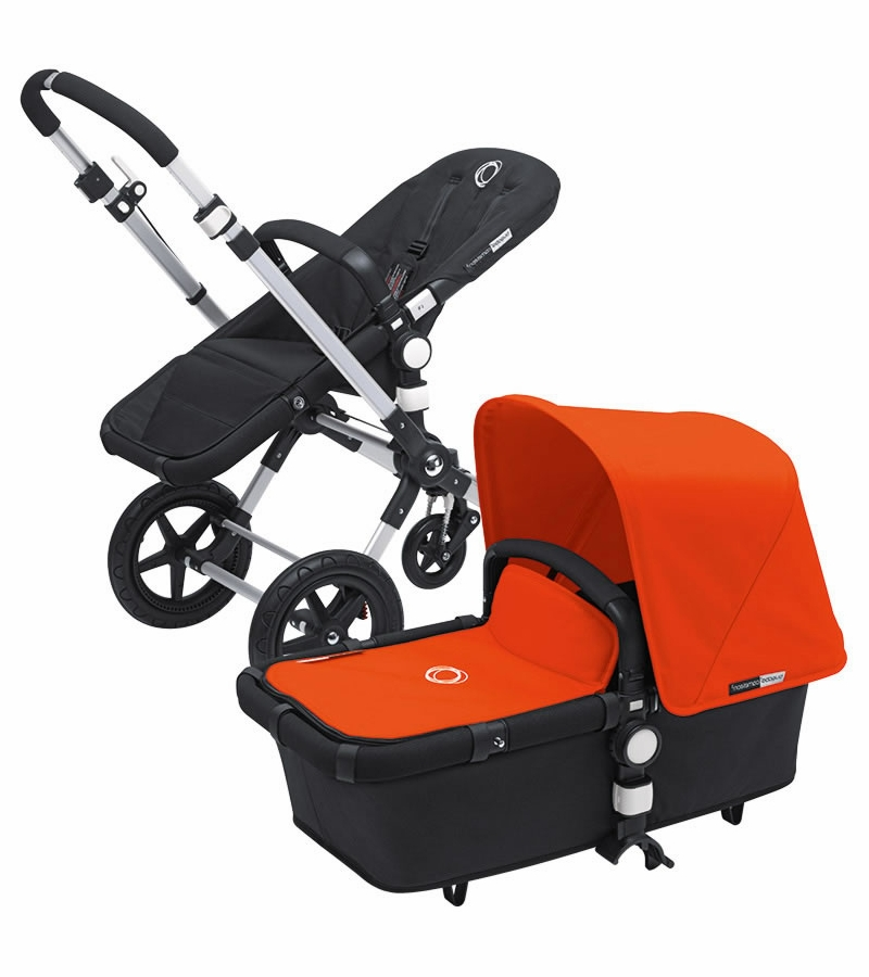 bugaboo cameleon 3 bundle black base orange fabric set. Black Bedroom Furniture Sets. Home Design Ideas