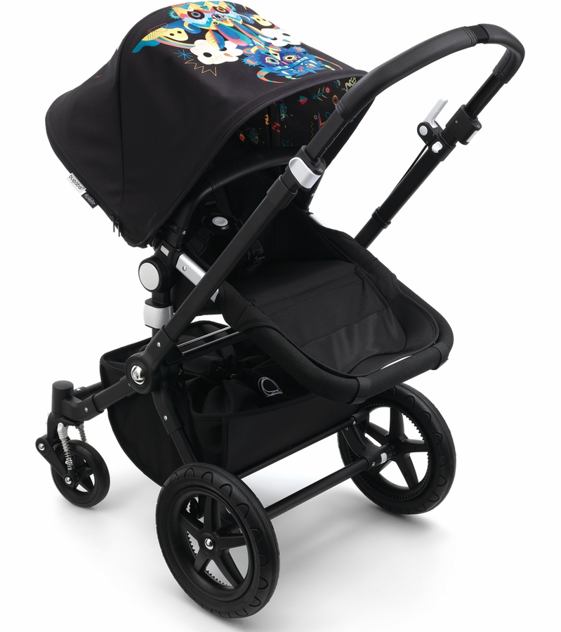 bugaboo cameleon 3 stroller all black niark1. Black Bedroom Furniture Sets. Home Design Ideas
