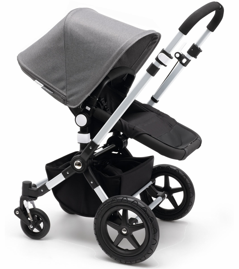 bugaboo 2015 cameleon 3 stroller black grey melange. Black Bedroom Furniture Sets. Home Design Ideas