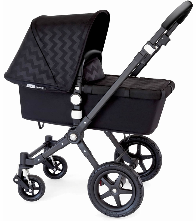 bugaboo 2015 cameleon 3 stroller black shiny chevron. Black Bedroom Furniture Sets. Home Design Ideas