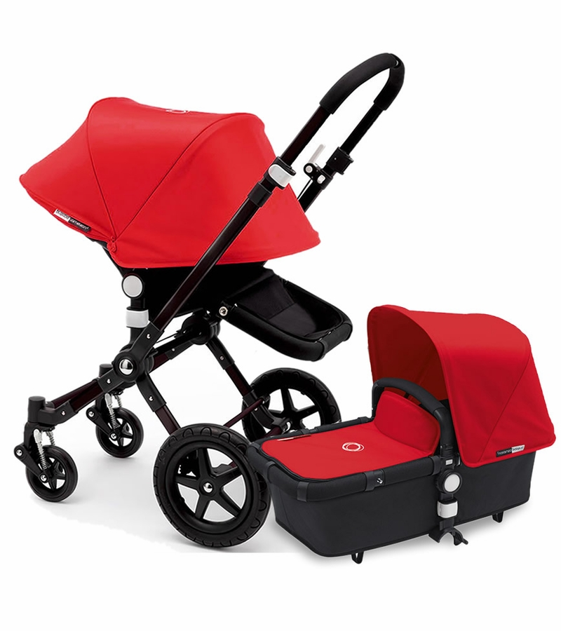 bugaboo 2015 cameleon 3 stroller all black red. Black Bedroom Furniture Sets. Home Design Ideas