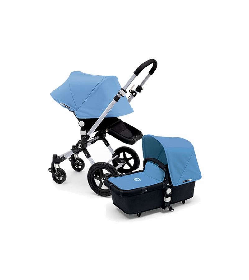 bugaboo 2015 cameleon 3 stroller black ice blue. Black Bedroom Furniture Sets. Home Design Ideas