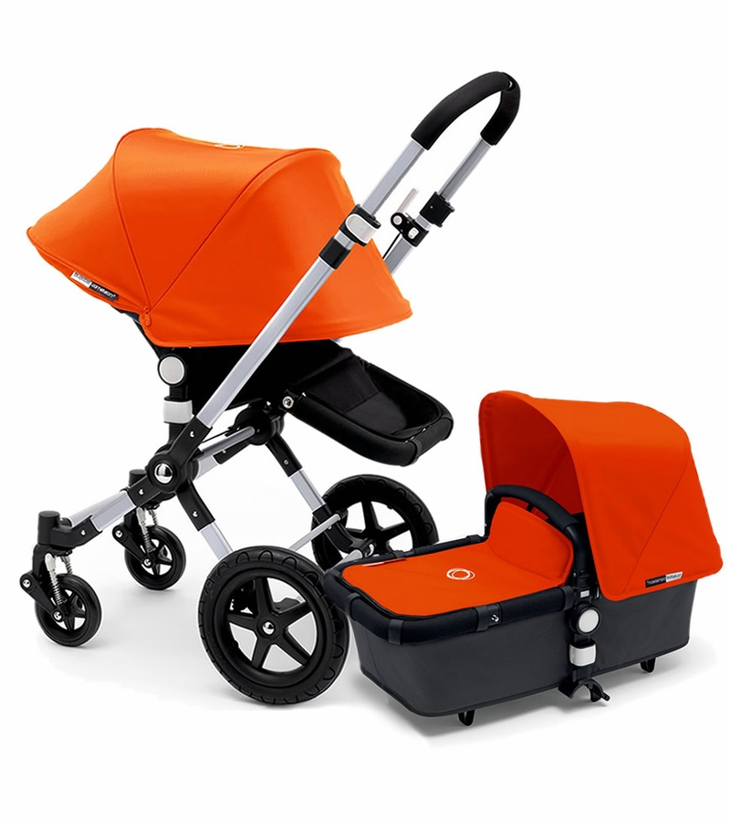 bugaboo 2015 cameleon 3 stroller grey orange. Black Bedroom Furniture Sets. Home Design Ideas