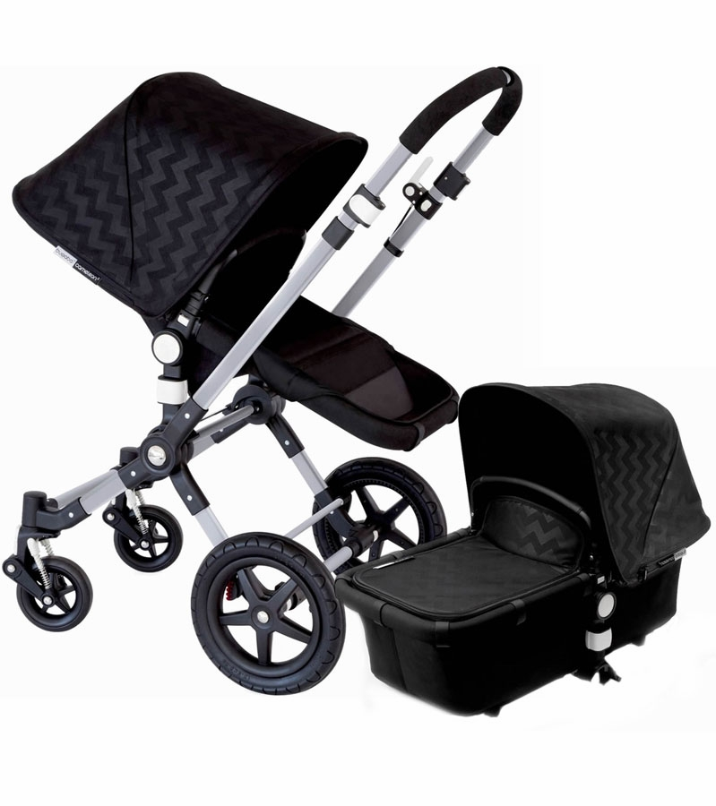 bugaboo 2015 cameleon 3 stroller silver shiny chevron. Black Bedroom Furniture Sets. Home Design Ideas