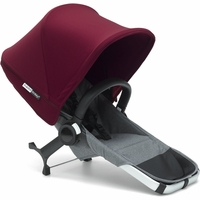 Bugaboo Donkey 2 Duo Complete Extension Set - Grey/Red