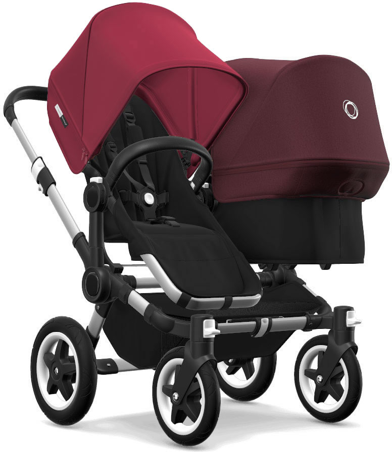 Bugaboo Donkey 2 Duo Complete Stroller - Aluminum/Black/R...