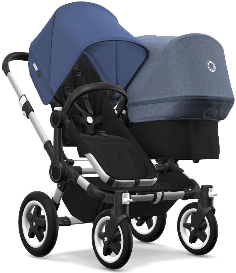 Bugaboo Donkey 2 Duo Complete Stroller - Aluminum/Black/S...