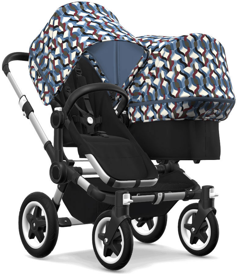 Bugaboo Donkey 2 Duo Complete Stroller - Aluminum/Black/W...