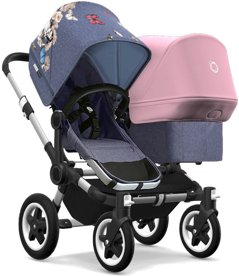 Bugaboo Donkey 2 Duo Complete Stroller - Aluminum/Blue Me...