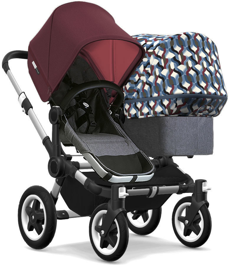 Bugaboo Donkey 2 Duo Complete Stroller - Aluminum/Grey Me...