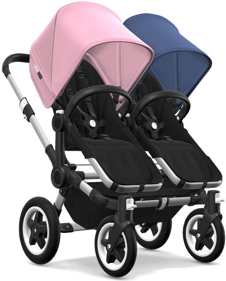 Bugaboo Donkey 2 Twin Complete Stroller - Aluminum/Black/...