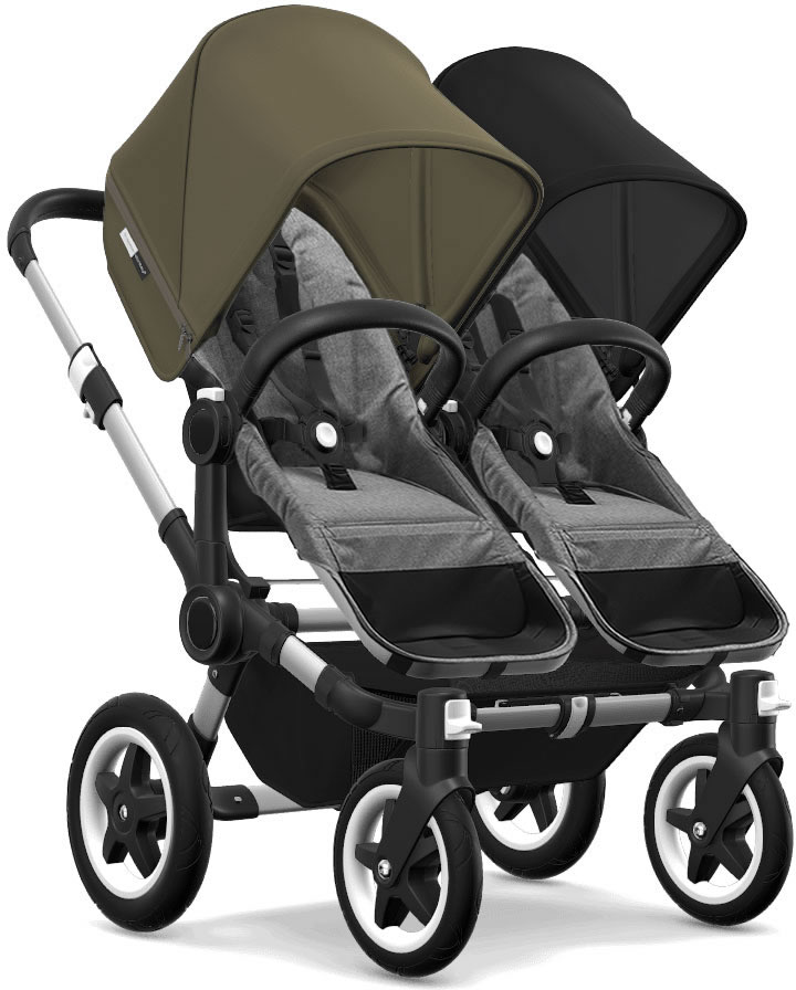 Bugaboo Donkey 2 Twin Complete Stroller - Aluminum/Grey M...