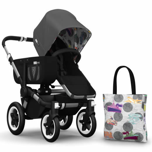 Bugaboo Donkey Andy Warhol Accessory Pack - Dark Grey/Tra...