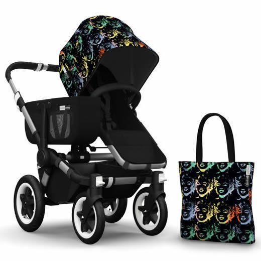 Bugaboo Donkey Andy Warhol Accessory Pack - Marilyn/Black