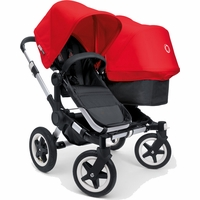 Bugaboo Donkey Compact Fold Duo Stroller in Black/Red