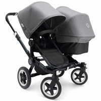 Bugaboo Donkey Duo Stroller - All Black/Grey Melange