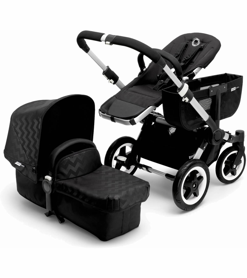 bugaboo donkey mono stroller silver shiny chevron. Black Bedroom Furniture Sets. Home Design Ideas