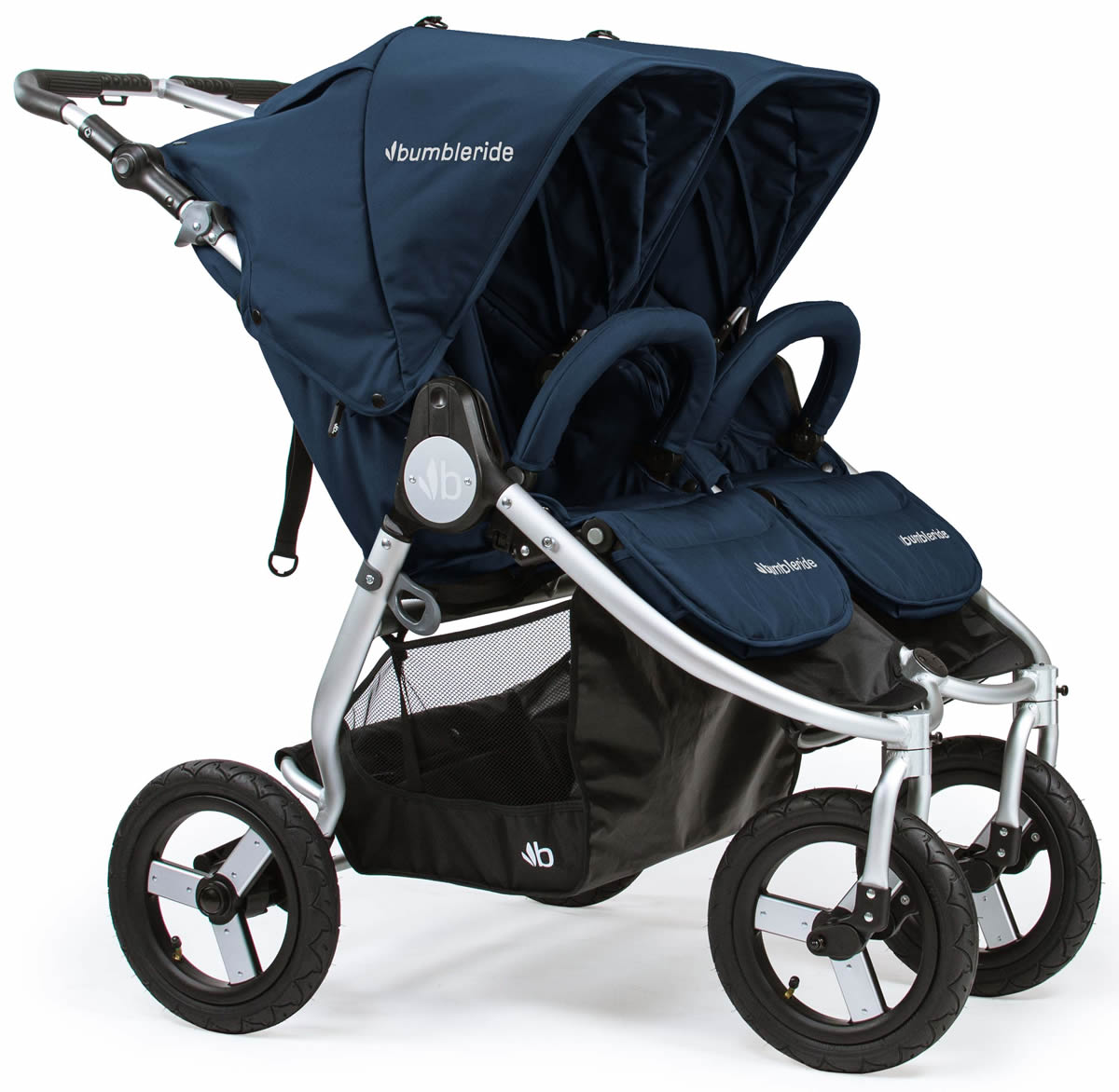 BumbleRide 2018 Indie Twin Double Stroller - Maritime Blue