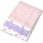 Carter's 4-Pack Pink & Purple Butterfly Print Receiving Blankets