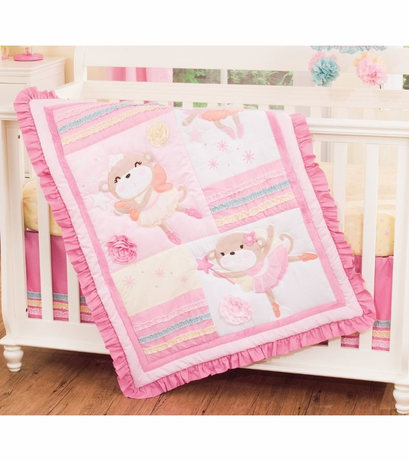 Top Carter's 4 Piece Crib Bedding Set - Fairy Monkey KG89