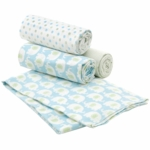 Carter's 4pk Wrap Me Up Receiving Blanket in Elephant