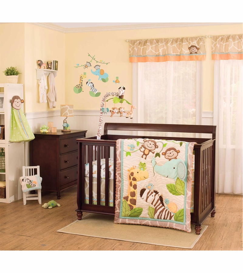 s jungle play 4 crib bedding set 87340