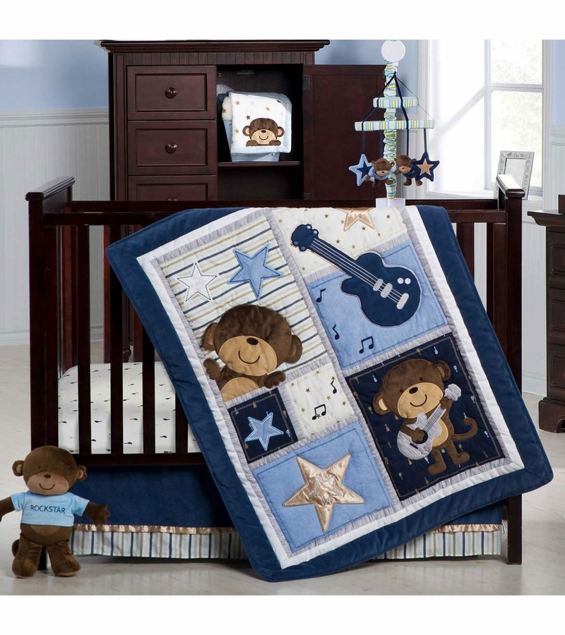 Rock And Roll Monkey Crib Bedding