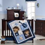Carter's Monkey Rockstar 4 Piece Crib Bedding Set