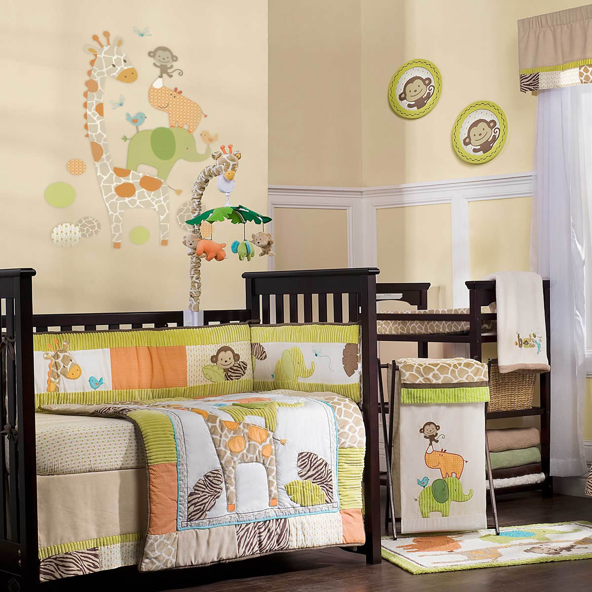Carter's Wildlife 4 Piece Crib Bedding Set