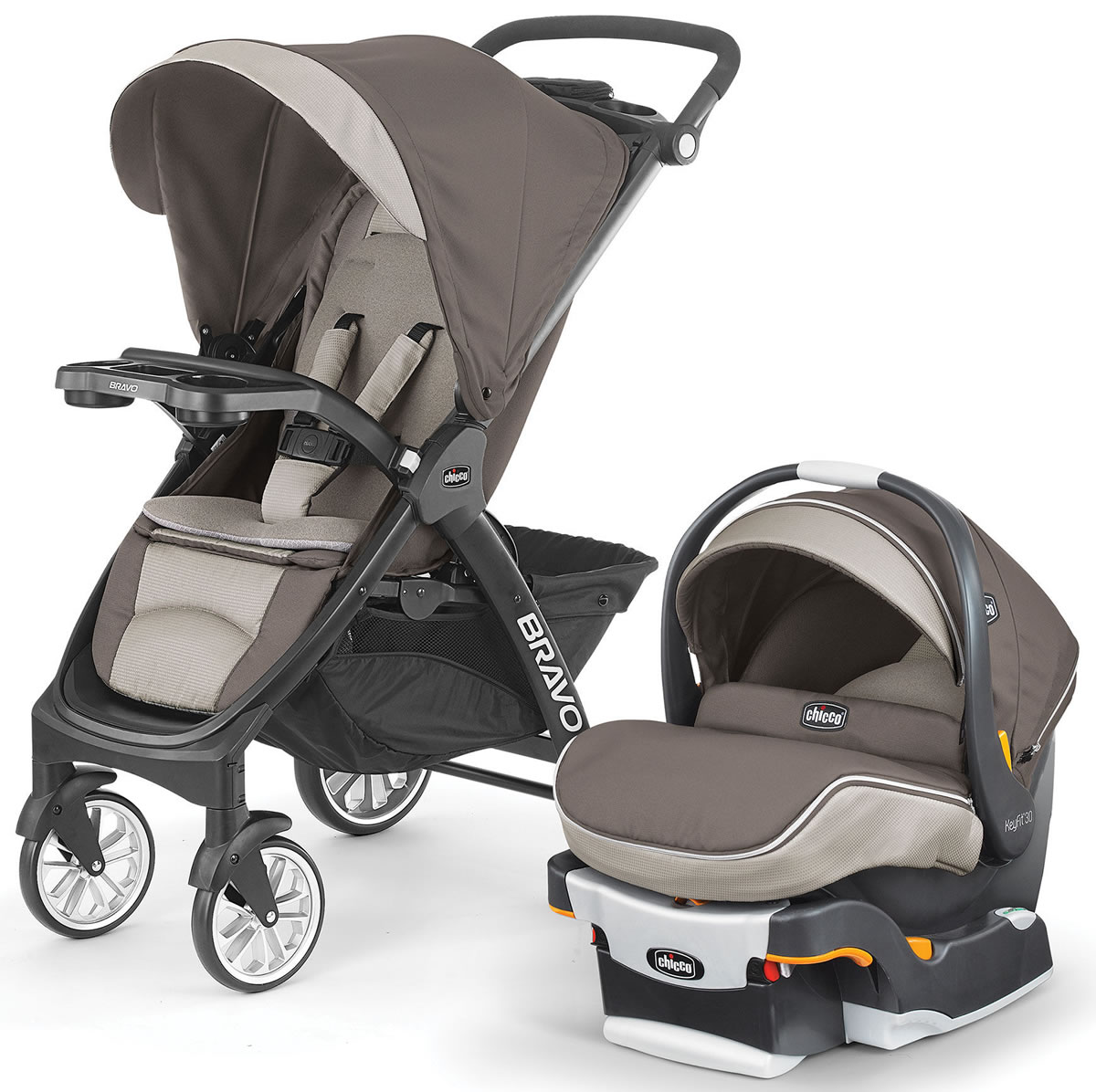 Chicco Bravo LE Trio Travel System - Latte