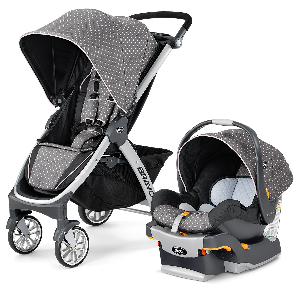 Chicco Bravo Trio Travel System - Lilla
