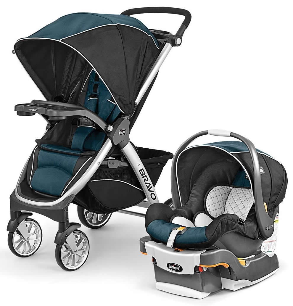 Chicco Bravo Trio Travel System, Blue (Navy)