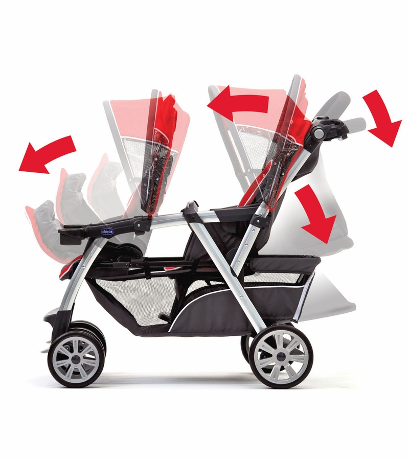 chicco cortina together double stroller ombra. Black Bedroom Furniture Sets. Home Design Ideas