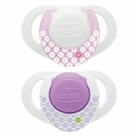 Chicco Hard Shield Orthodontic Pacifiers - Pink - 0M+