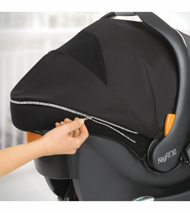 & Chicco KeyFit 30 Zip Infant Car Seat - Eclipse
