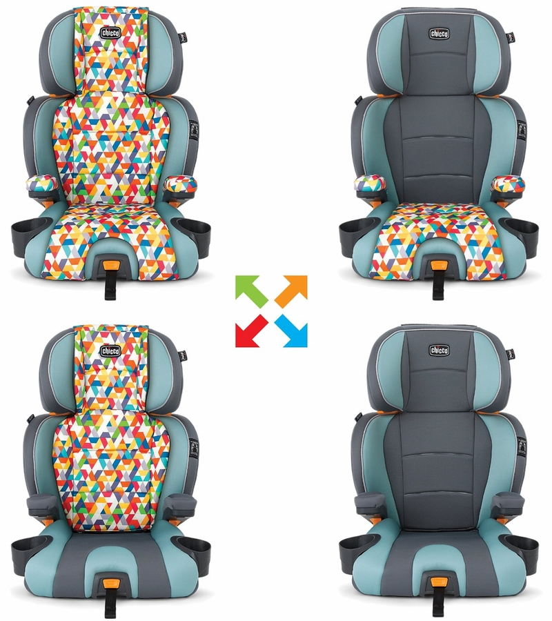 Chicco Kidfit Zip 2-in-1 Belt Positioning Booster Car Seat - Wild