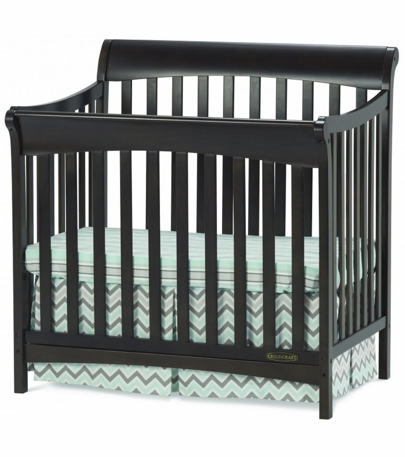 Child craft ashton 4 in 1 mini convertible crib slate for Child craft crib reviews