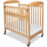 Child Craft Bella SafeAccess Compact Clearview Crib in Natural